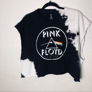 Pink Floyd Tye dyed Tee with ripped back